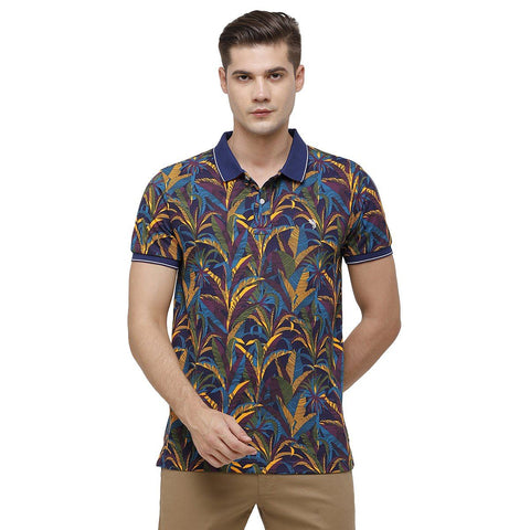 Swiss Club Mens Polo Collar Half Sleeve Multicolor Slim Fit 100% Cotton T-shirt ( STAG - 199 A SF P_M )