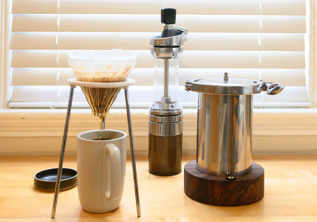 stør vessel with v60 grinder and Lido E-T