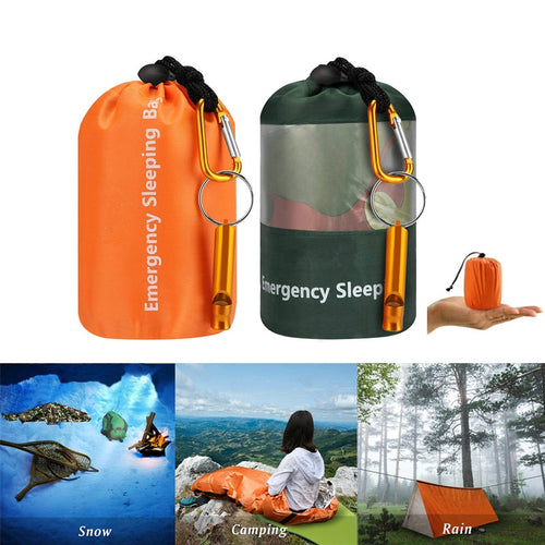 JICS - Emergency Sleeping Bag - Waterproof Lightweight Thermal Bivy Sack-JUSTINCASESTUFF