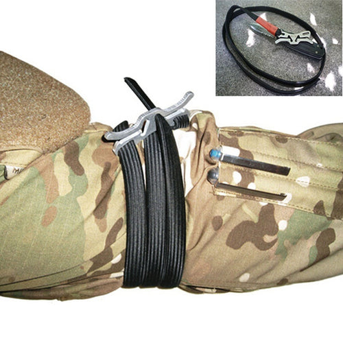 JICS Elastic Outdoor Emergency Hemostasia Rope First Aid Combat Application Tourniquet-JUSTINCASESTUFF