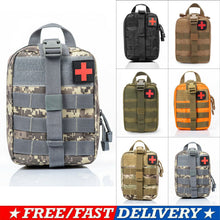 Load image into Gallery viewer, Camping Multifunctional Waist Pack Climbing Emergency Molle Survival Kits Outdoor Travel First Aid Kit Tactical Medical Bag-JUSTINCASESTUFF