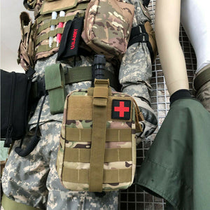 Camping Multifunctional Waist Pack Climbing Emergency Molle Survival Kits Outdoor Travel First Aid Kit Tactical Medical Bag-JUSTINCASESTUFF