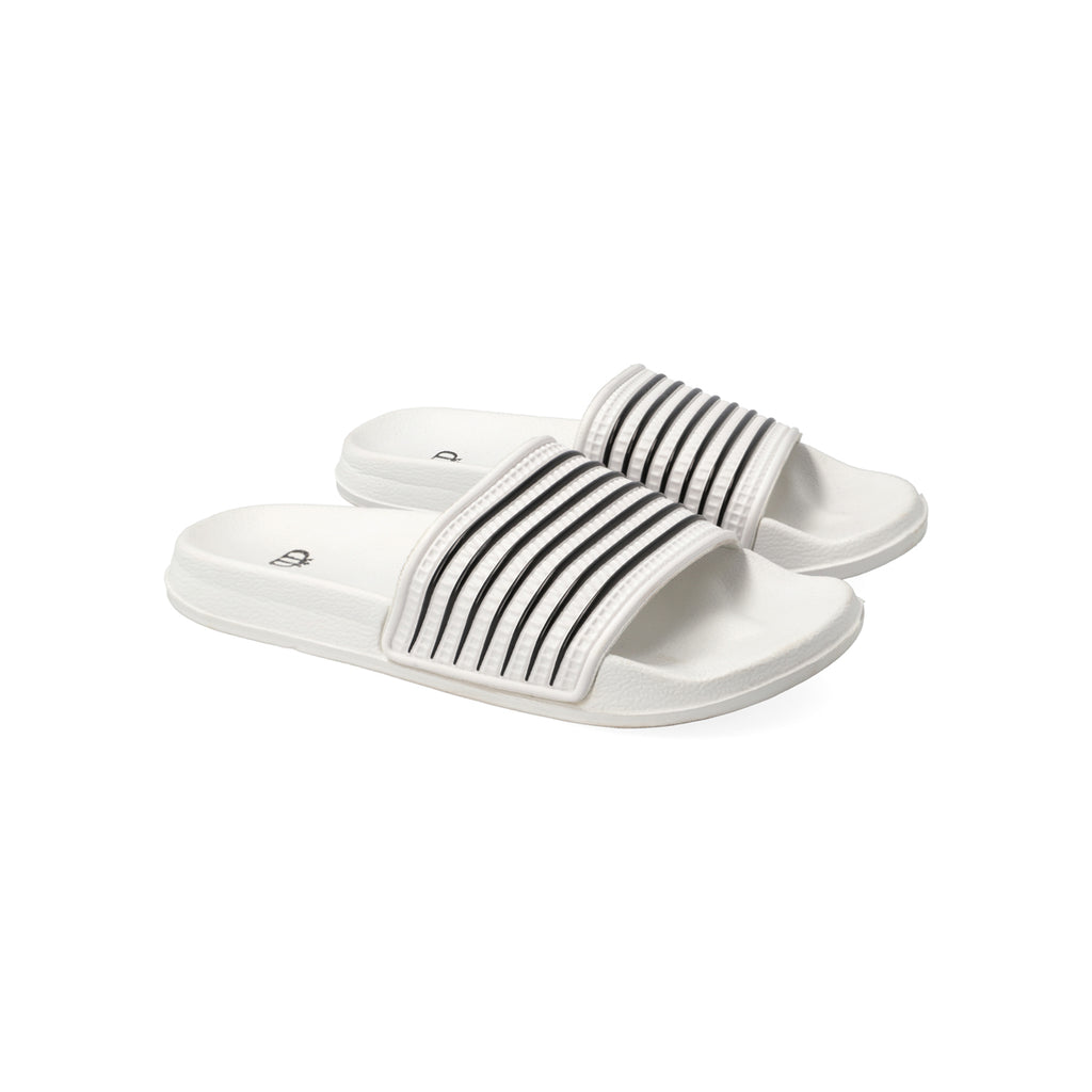 Campus Multi Stripe Sliders _ 109555 _ White