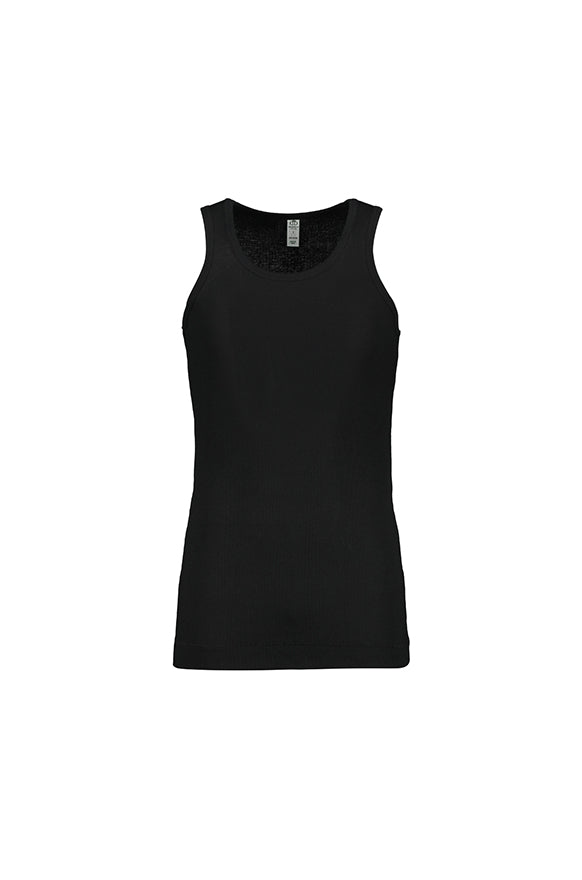 Hayden Single Ribbed Vest _ 110752 _ Black