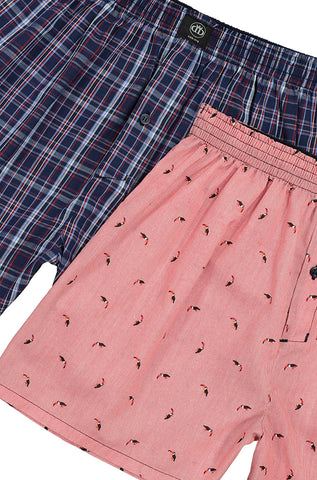 Nik Woven Boxers _ 113243 _ Red