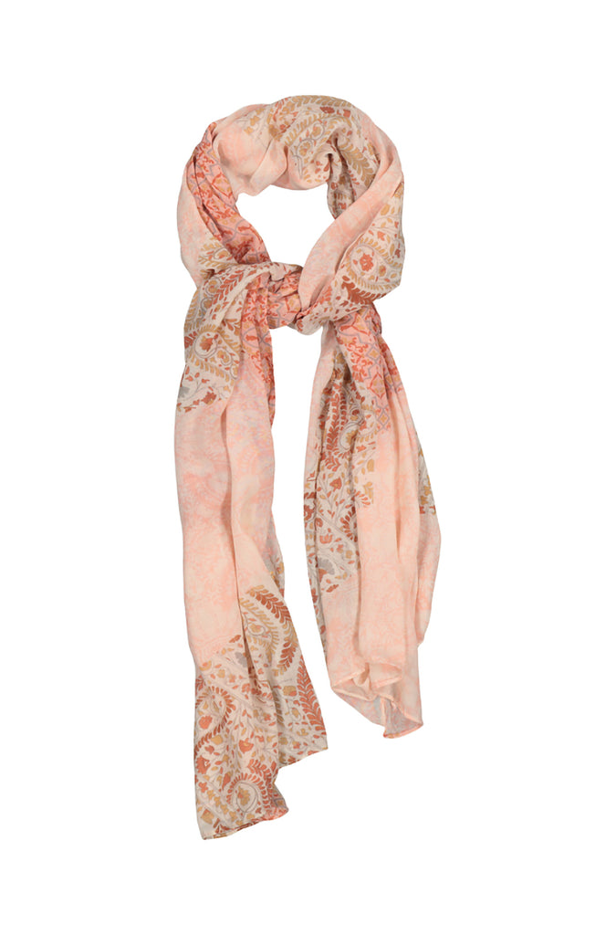Kate Paisley Scarf _ 113273 _ Pink