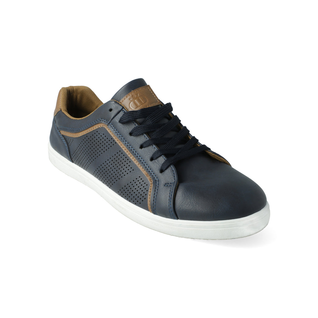Camden Pu Lace Up Sneaker _ 113935 _ Navy