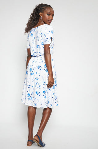 Madison Floral Dress _ 114779 _ Blue