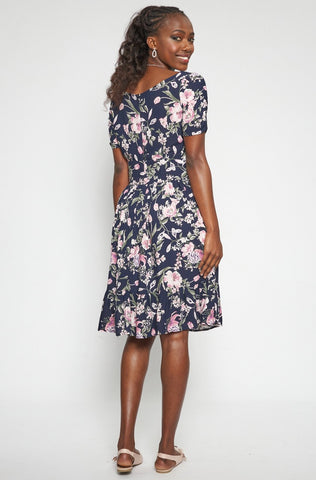 Lee Floral Dress _ 114788 _ Navy