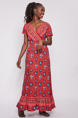 Marion Maxi Dress _ 114830 _ Red