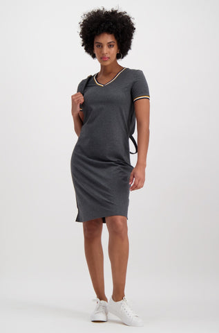 Bayliss Sporty Dress _ 114906 _ Charcoal Mel