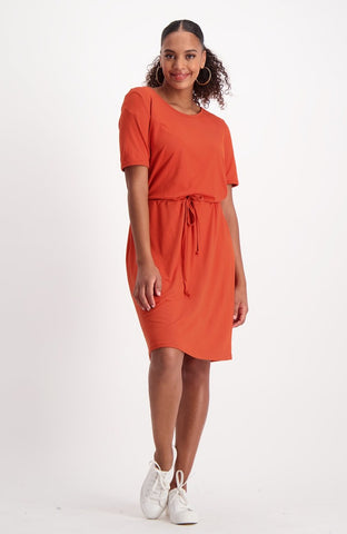 Loreta T-Shirt Dress _ 114928 _ Rust