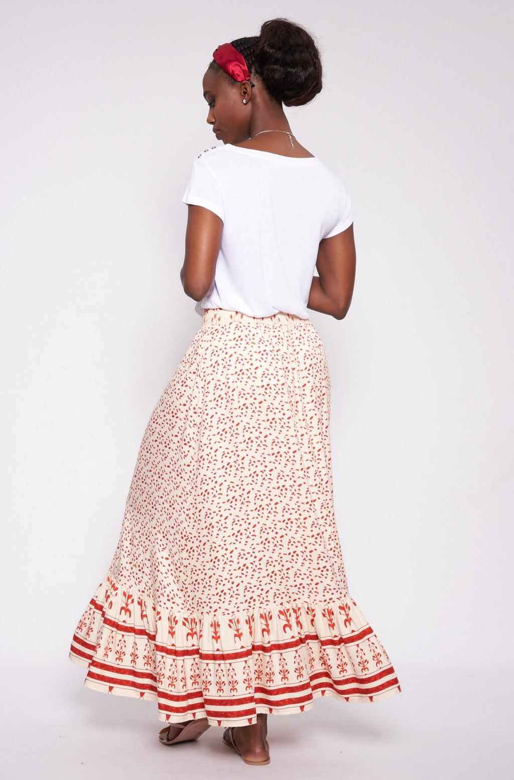 Grace Maxi Skirt _ 115036 _ Red