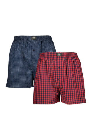 Peter Woven Boxers _ 115105 _ Red