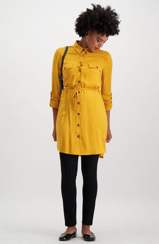 York Shirt Dress _ 115151 _ Ocre