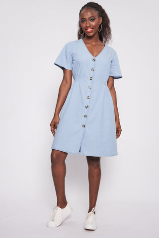 Euginie Chambray Dress _ 115224 _ Chambray