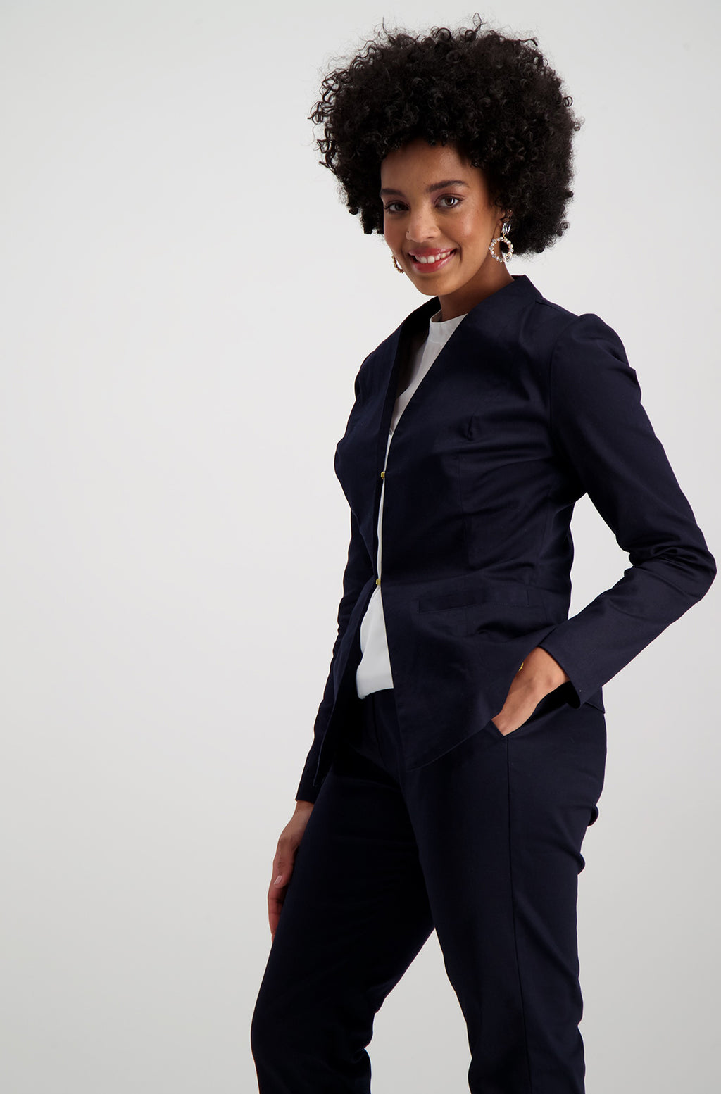 Tonica Suit Jacket _ 115230 _ Navy