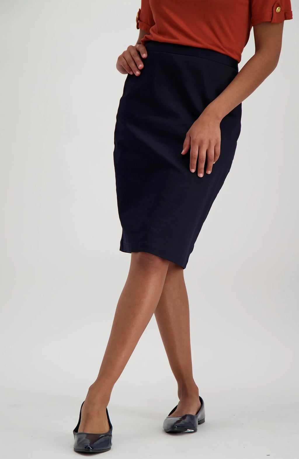 Tonica Suit Skirt _ 115287 _ Navy