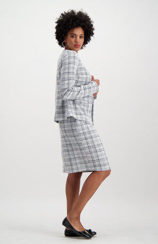Melissa Suit Jacket _ 115292 _ Grey