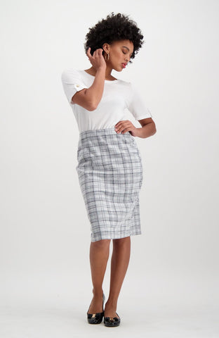 Melissa Suit Skirt _ 115297 _ Grey