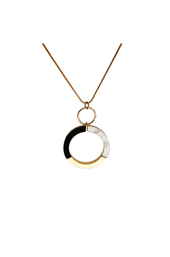 Fayette Statement Pendant Necklace _ 115535 _ Gold
