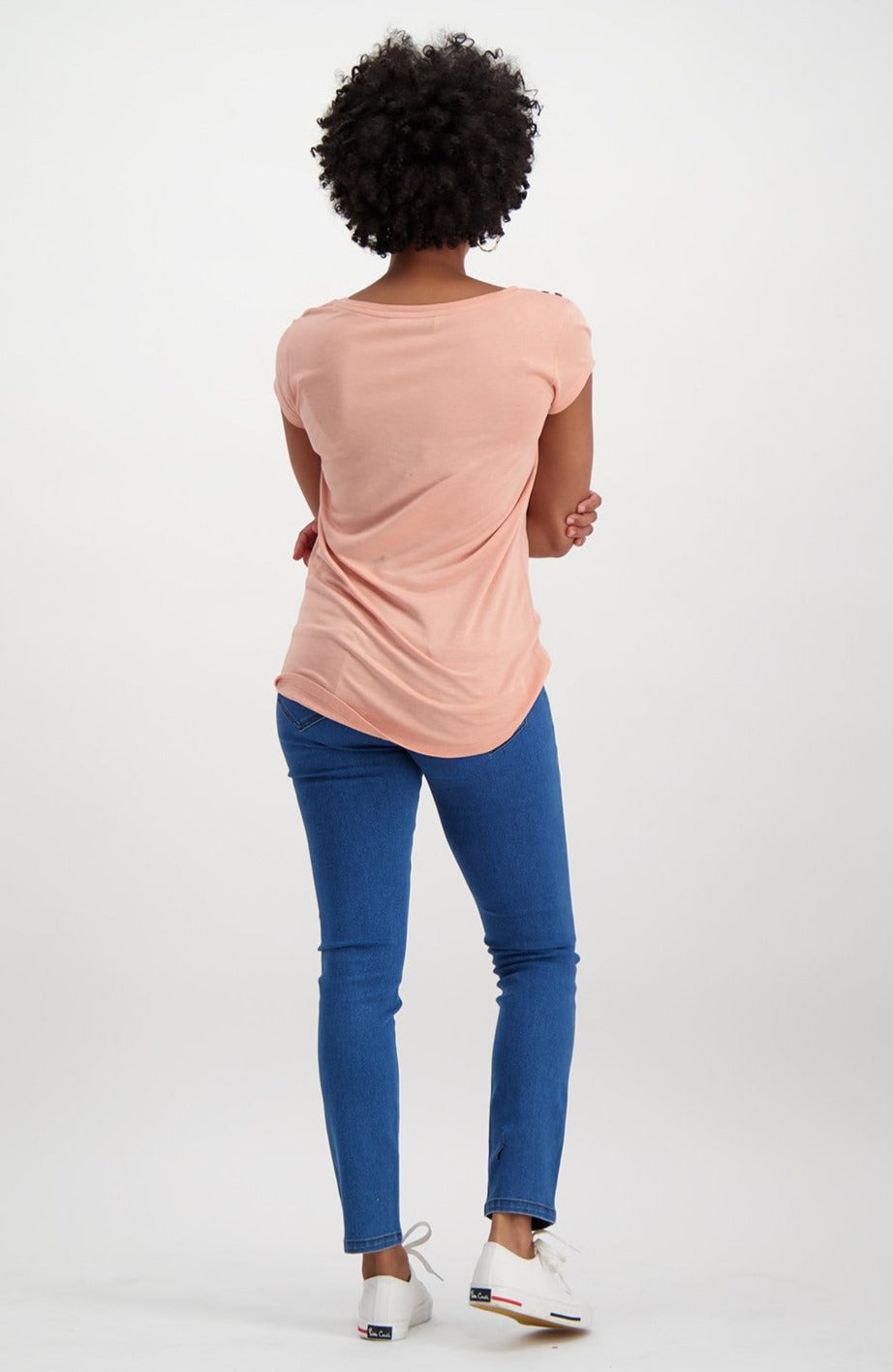 Reilley Basic Tee _ 115610 _ Dusty Pink