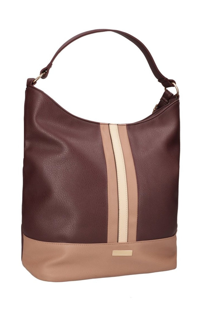 Glenn Hobo Bag _ 115627 _ Burgundy