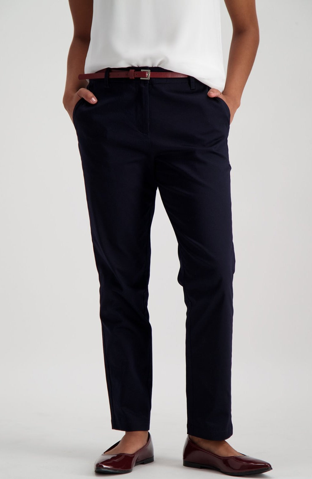 Clairidge Sateen Pant _ 115785 _ Navy