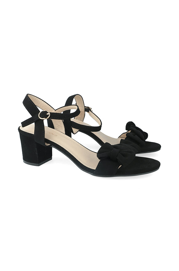 Carmen Side Bow Block Heel _ 115789 _ Black