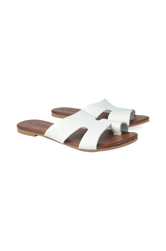 Ethell Leather Sandal _ 115830 _ White