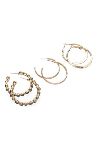 Eleanor Multi 3 Pack Hoops _ 115854 _ Gold
