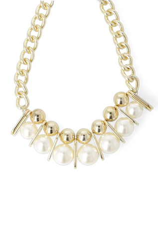 Adelia Pearl Necklace _ 115932 _ Gold