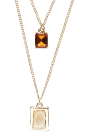 Tara Layered Pendant Necklace _ 115940 _ Gold