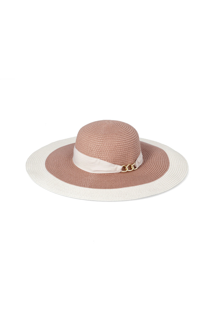Charlene Colourblock Hat _ 115961 _ Pink