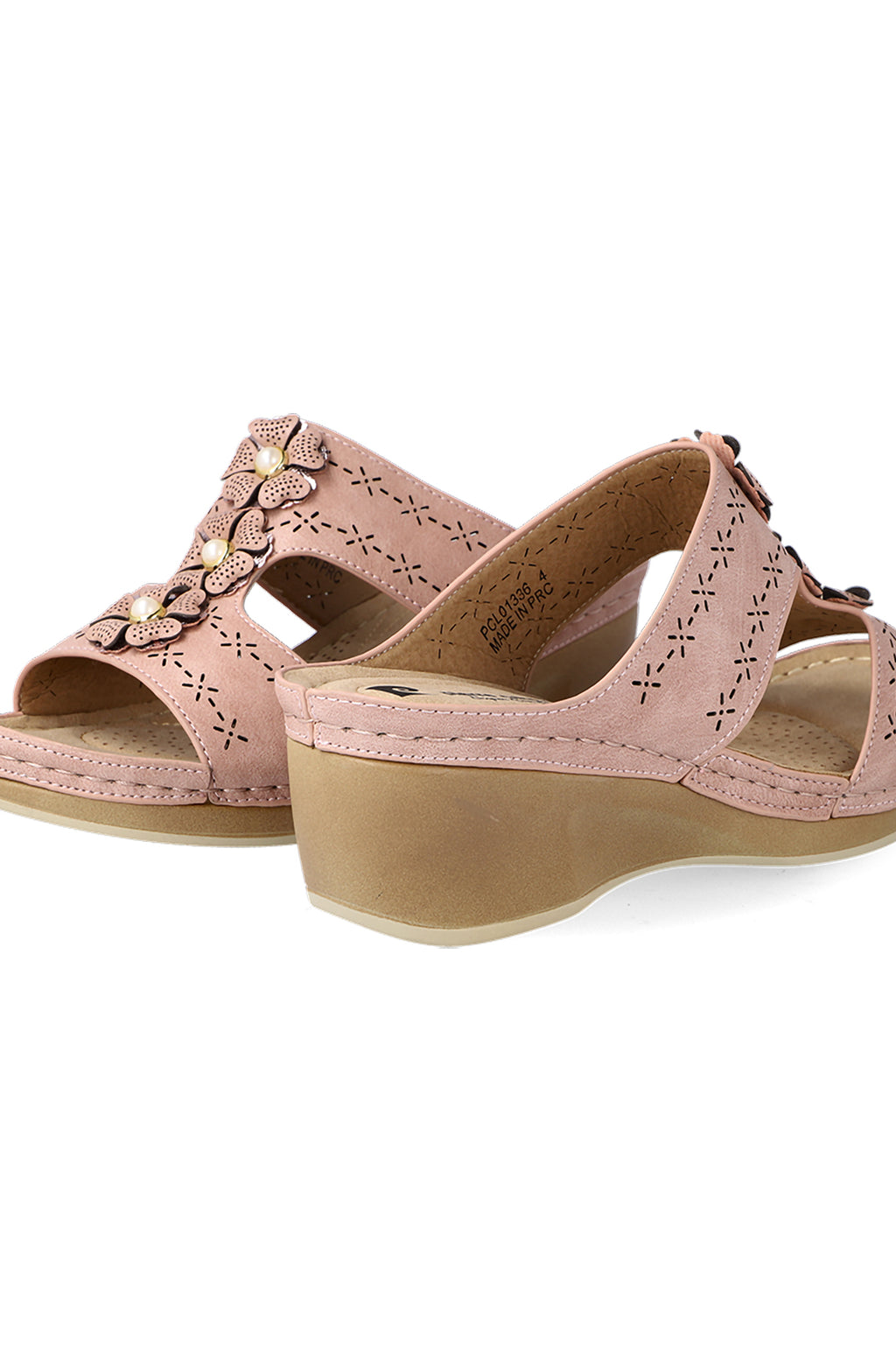 Augusta Flower Sandal _ 116205 _ Dusty Pink