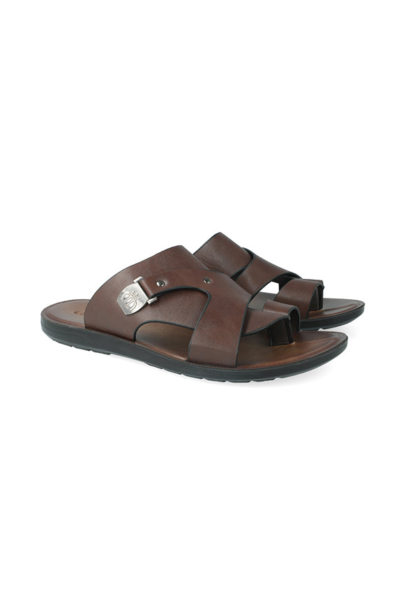 Columbia Side Ingot Toe Thong Sandal _ 116487 _ Brown