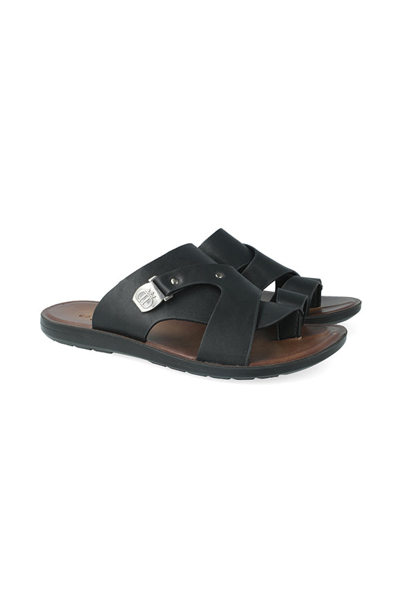 Columbia Side Ingot Toe Thong Sandal _ 116488 _ Black