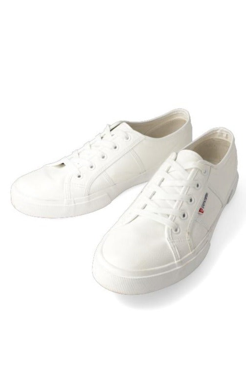 Pierre Cardin Cory Pu Lace Up Sneaker _ 116544 _ White