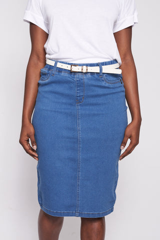 Jenny Denim Skirt _ 116748 _ Light Wash