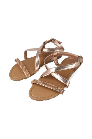 Public Way Diamante Sandal _ 117496 _ Rose Gold