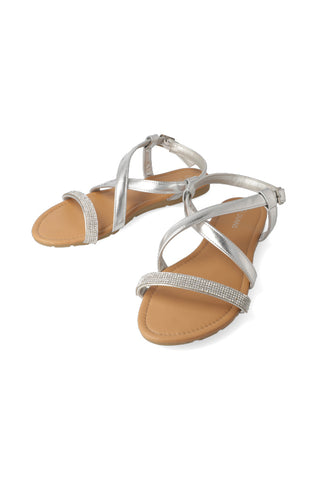 Public Way Diamante Sandal _ 117498 _ Silver