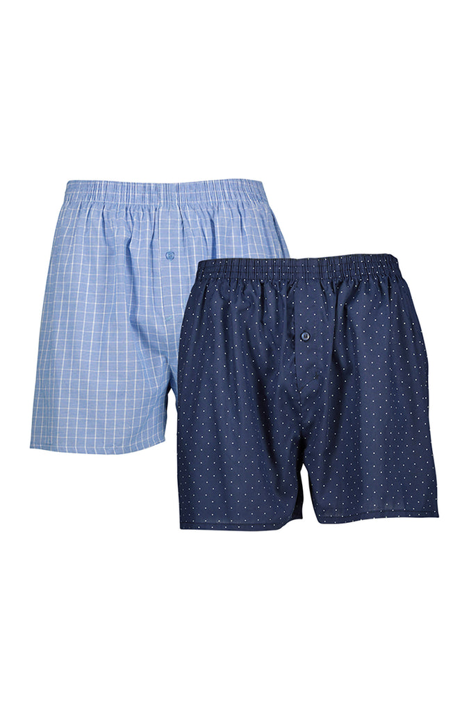 Club Woven Boxers _ 117787 _ Blue