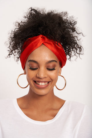 Del Mar Boho Headband _ 118112 _ Orange