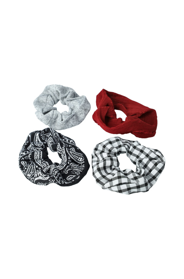 Rosewell 4 Pack Scrunchies _ 118123 _ Multi