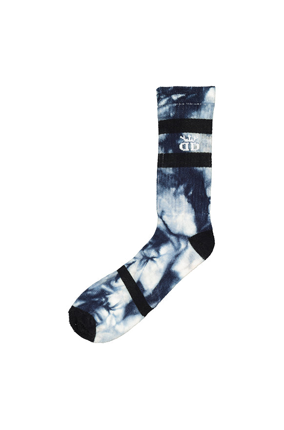 Tie Dye Fun Single Socks _ 118282 _ Navy