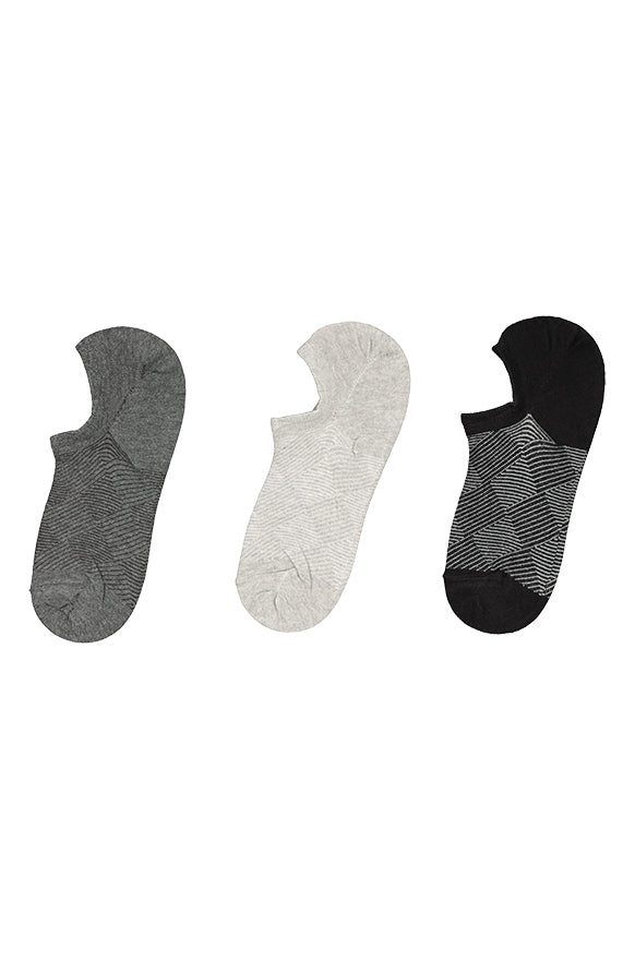 Curtis 3 Pk Secret Socks _ 118682 _ Grey