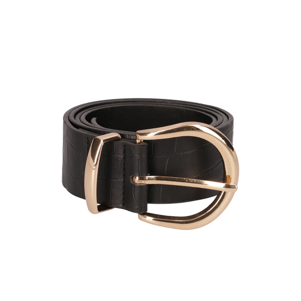 Rosaria Croc Circle Belt _ 118790 _ Black