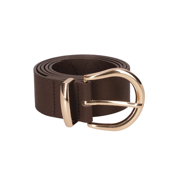 Rosaria Croc Circle Belt _ 118791 _ Brown