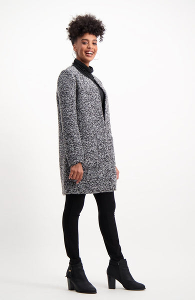 Harriet Boucle Coat _ 118797 _ Charcoal