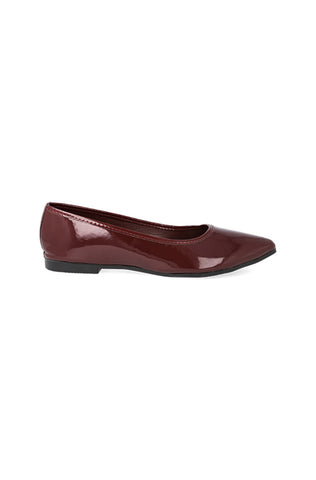 Rinney Pointy Patent Pump _ 119027 _ Burgundy